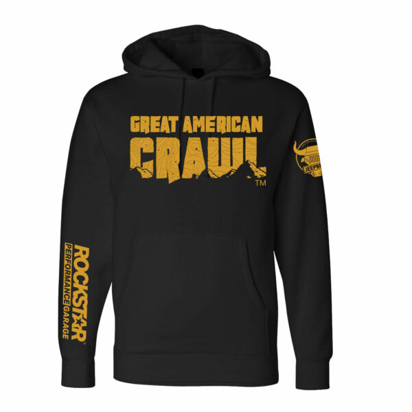 Great American Crawl Black and Gold Hoodie