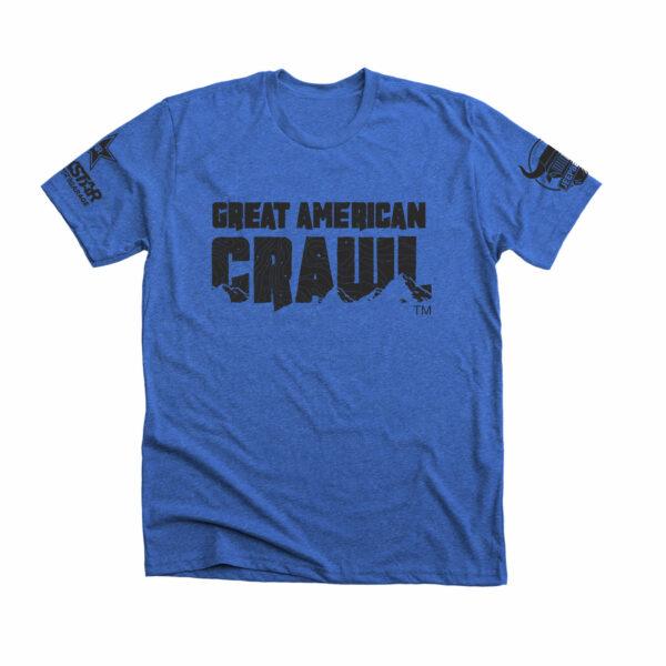 Blue on Black Great American Crawl Classic Tee