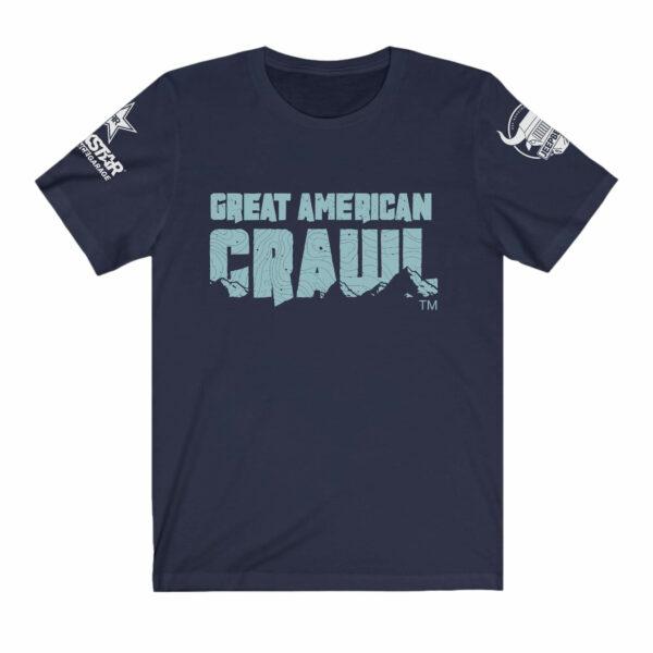 Ladies Blue on Blue Great American Crawl Tee